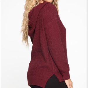 Fashion Nova Tops - Fashion Nova Feeling This Way Hooded Sweater
